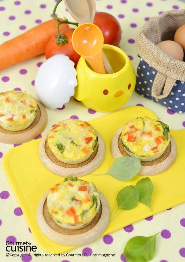 เมนูคัพเค้กไข่และผัก