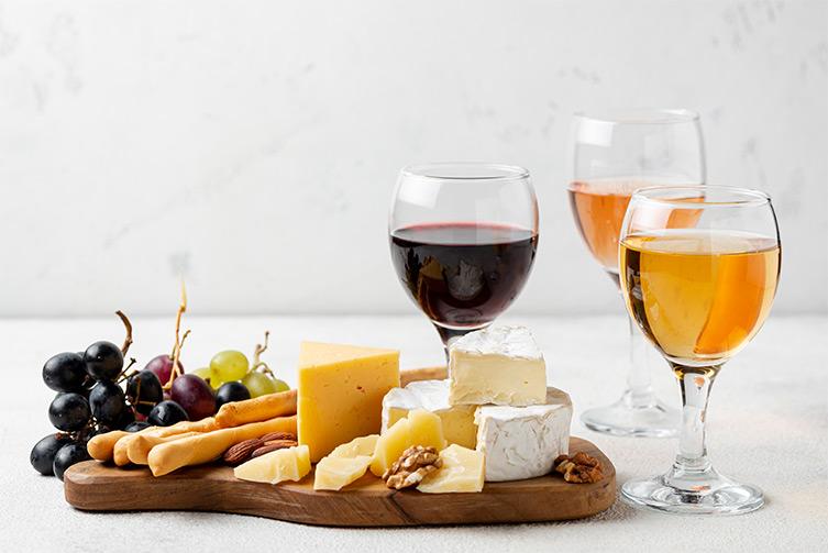 ไวน์แดงและเนย