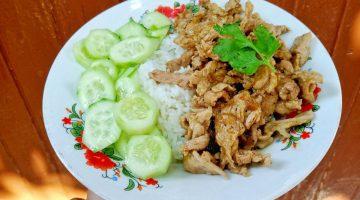 หมูผัดกระเทียมพริกไทย