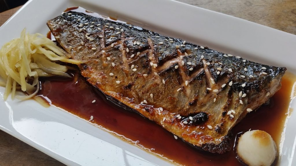 เมนูอาหารจากปลาซาบะ - ปลาซาบะย่างซีอิ๊ว